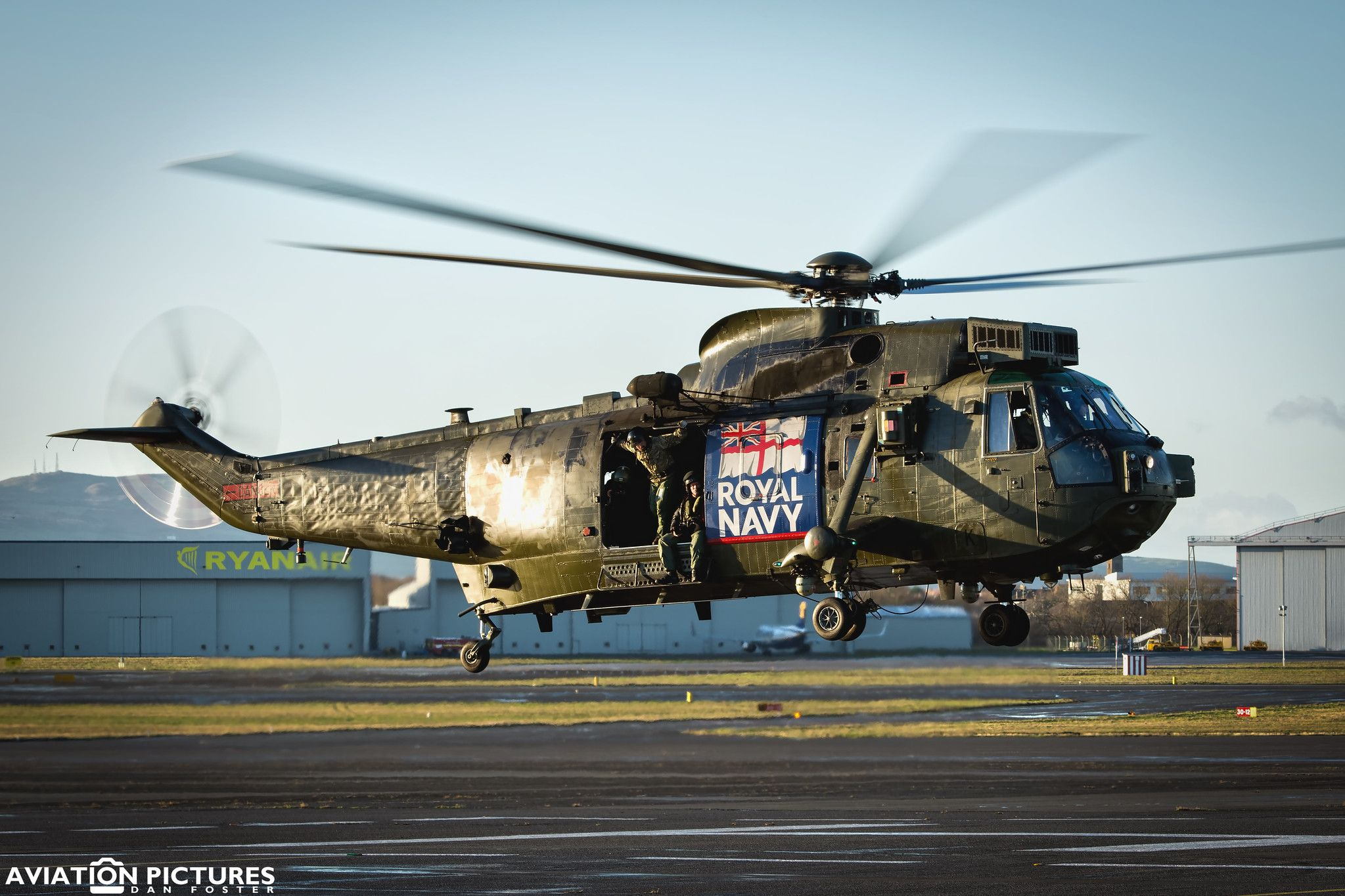 Westland Sea King HMS Ocean Helicopter Aircraft Carrier Royal Navy Birthday Card