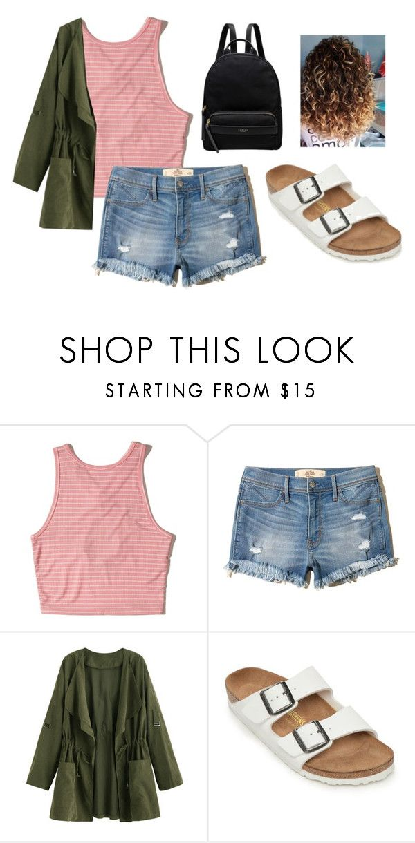 """Birks!!"" by alyssa-wilsonn ❤ liked on Polyvore featuring Hollister Co., Birkenstock and Radley"