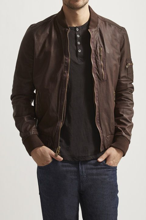 Leather Baseball Jacket - Rogue - Jackets & Outerwear ...