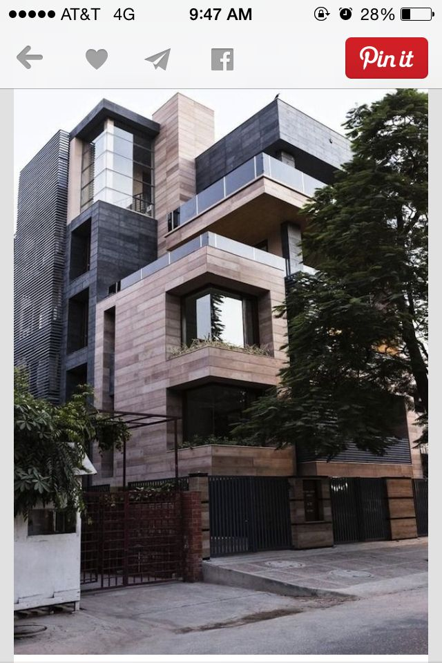 vertical cuboid house by amit khanna design associates in new delhi india - Architecture Design For Home In Delhi