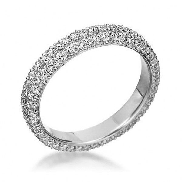 Michael B MB Wedding Ring This platinum two row diamond eternity ring