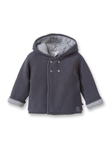 Manteau pull à capuche