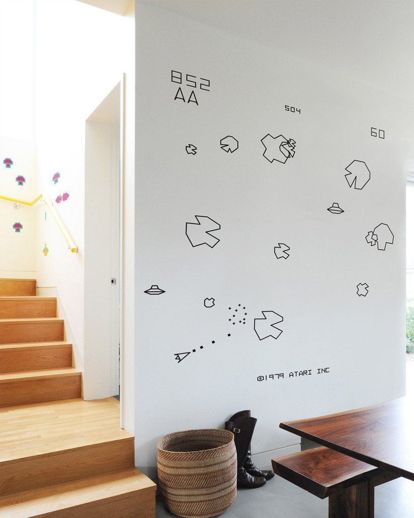 Amazon Com Asteroids Re Stik Wall Decals Home Kitchen With