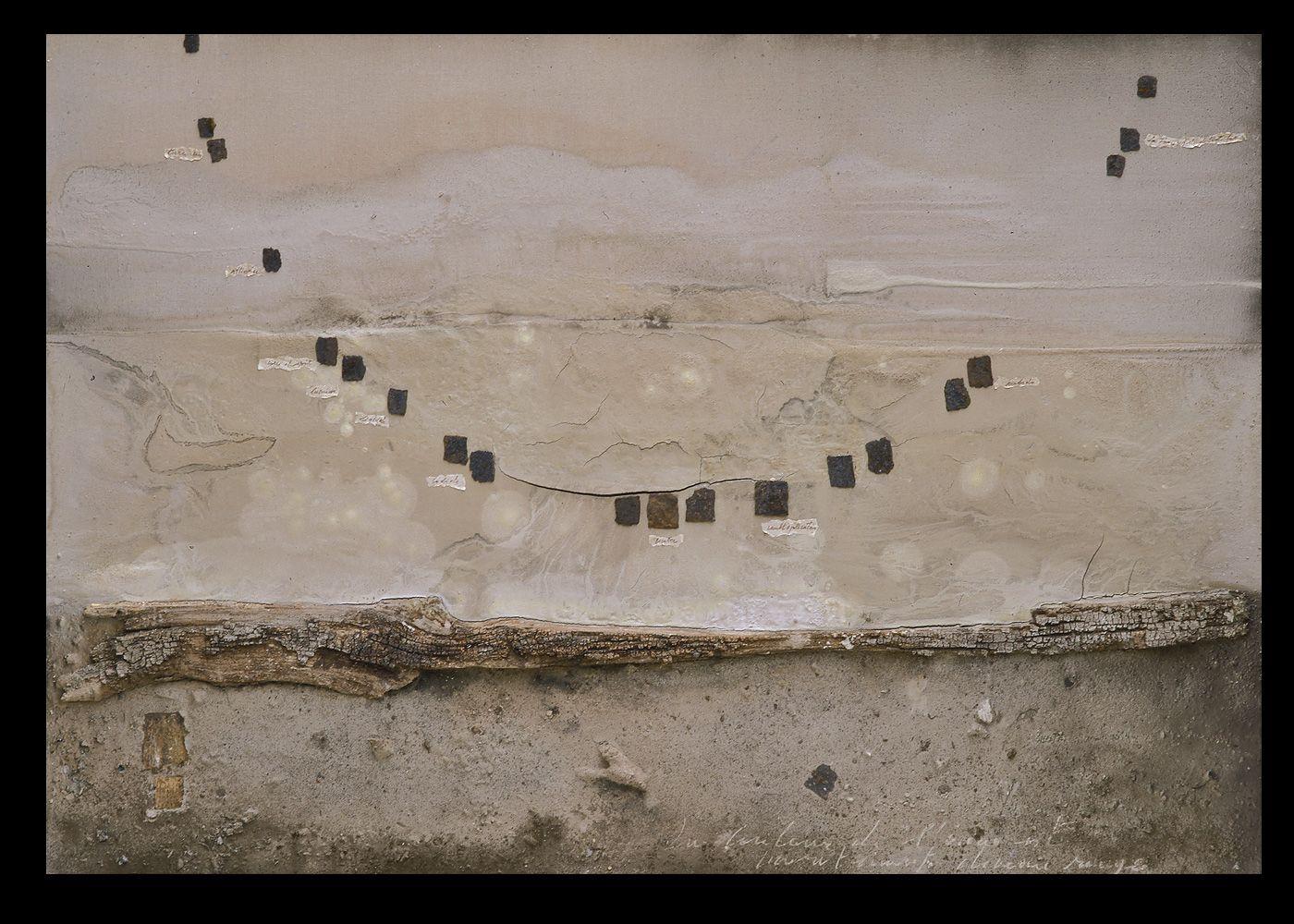L'œuvre au rouge - 2002 - technique mixte sur toile et bois - 180x220 cm