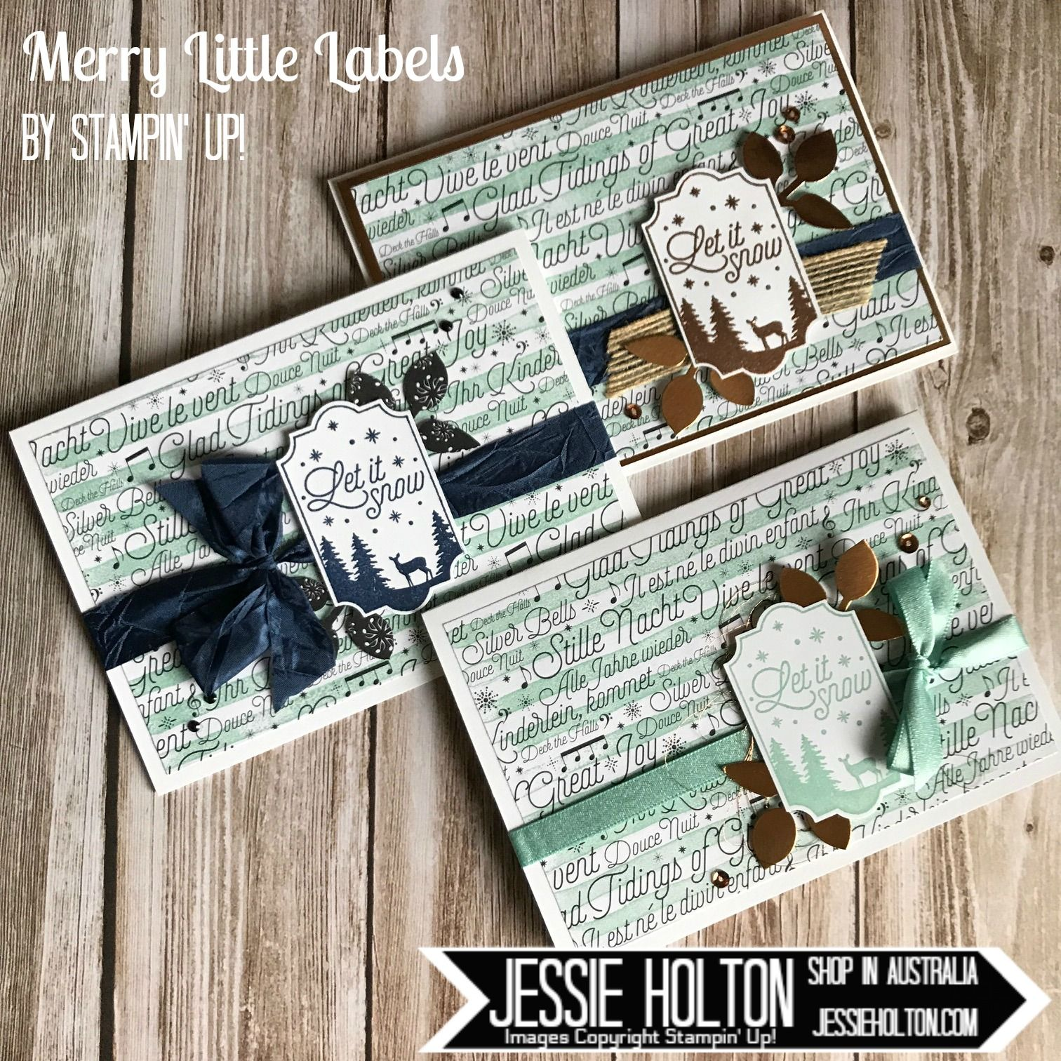 Jessie Holton Australia - Shop with me 24/7! How gorgeous is this new Merry Little Labels Stamp Set with coordinating Everyday Labels Punch? Great for tags & cards, too! Buy the bundle & save 10%. Check out the rest of the projects on this Stampin' Up Only Blog Hop. #JessieHolton #StampinUp #SUO