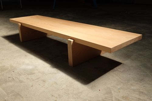 Meditation Japanese Woodworking Bench Made With Beech Gentle And