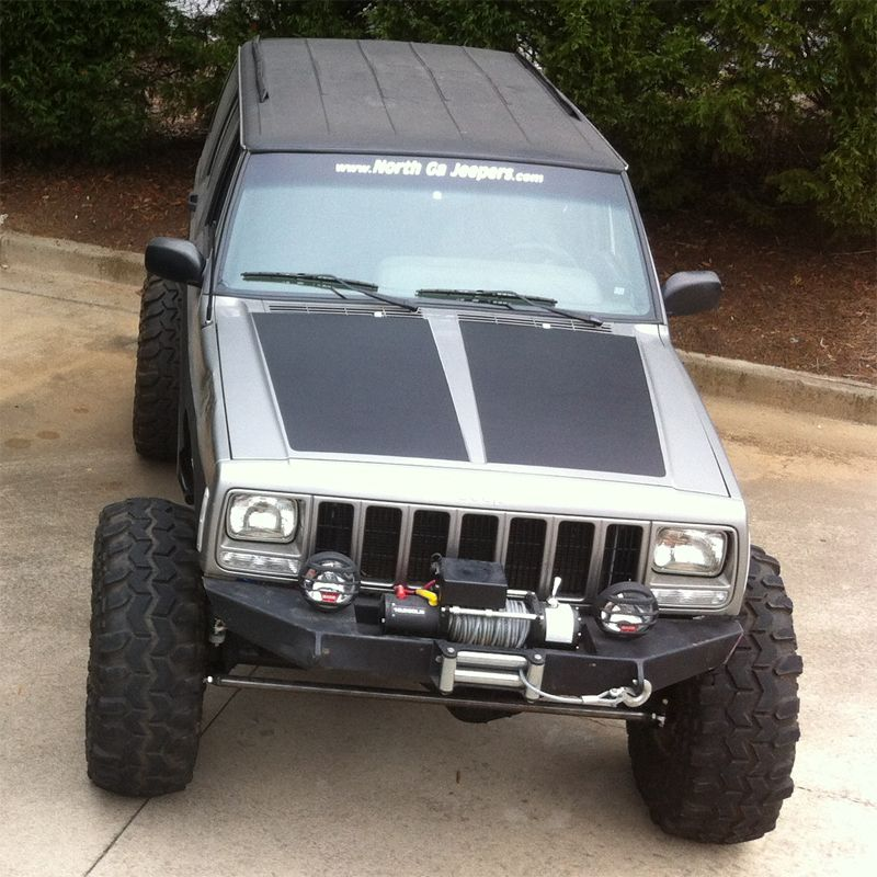 In By Popular Demand Blackout Hoods For Jeep Cherokee Xj Now Available Jeep Cherokee Xj Jeep Cherokee Jeep