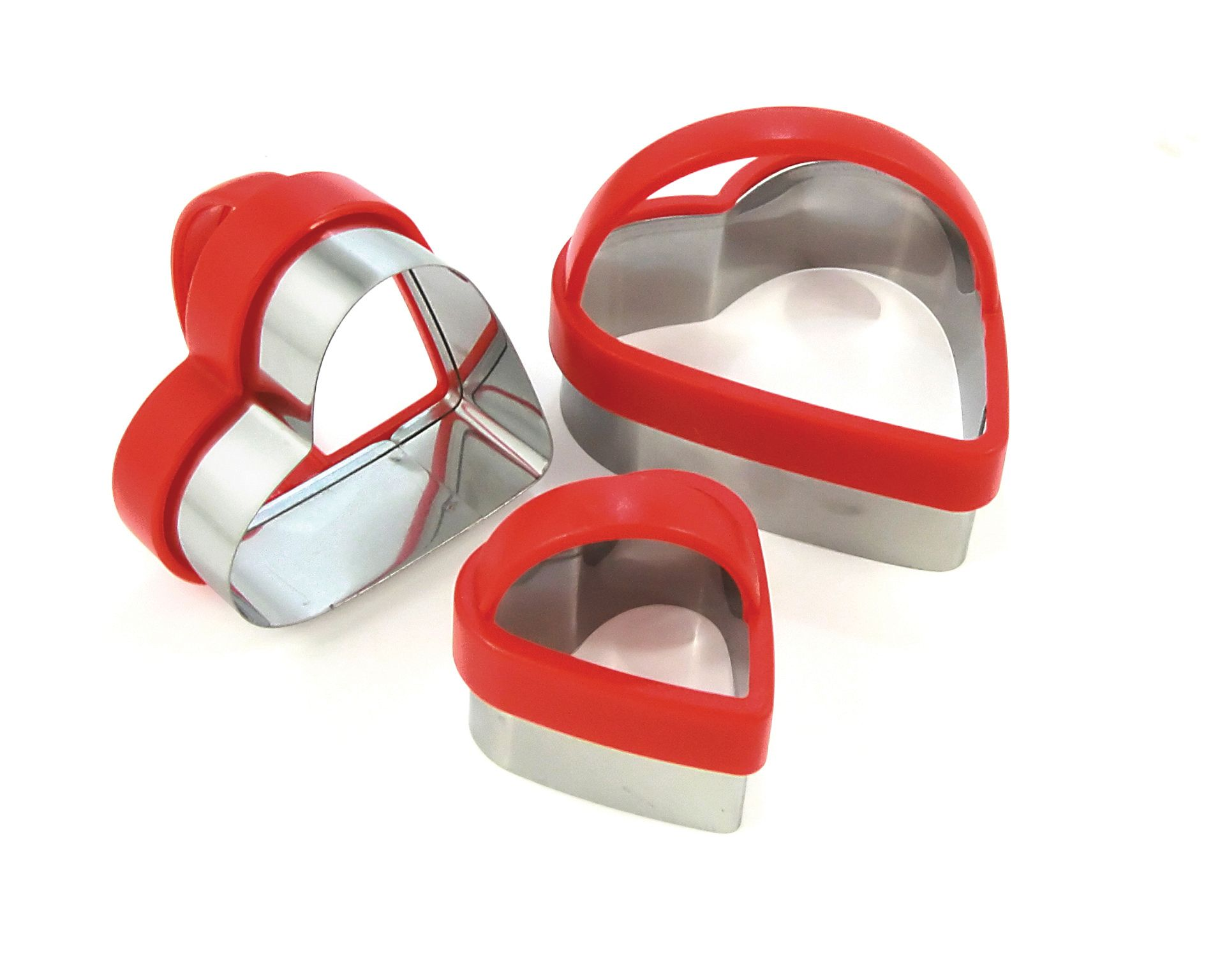 heart pastry cutters £1.70 set of 3 +VAT
