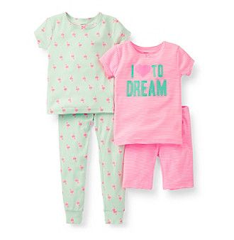 5b48f9431 Product  Carter s® Girls  4-7 Peach 4-pc. Heart to Dream Pajama Set ...
