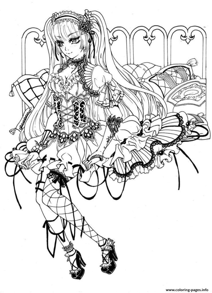 How To Draw A Gothic Lolita Step 6