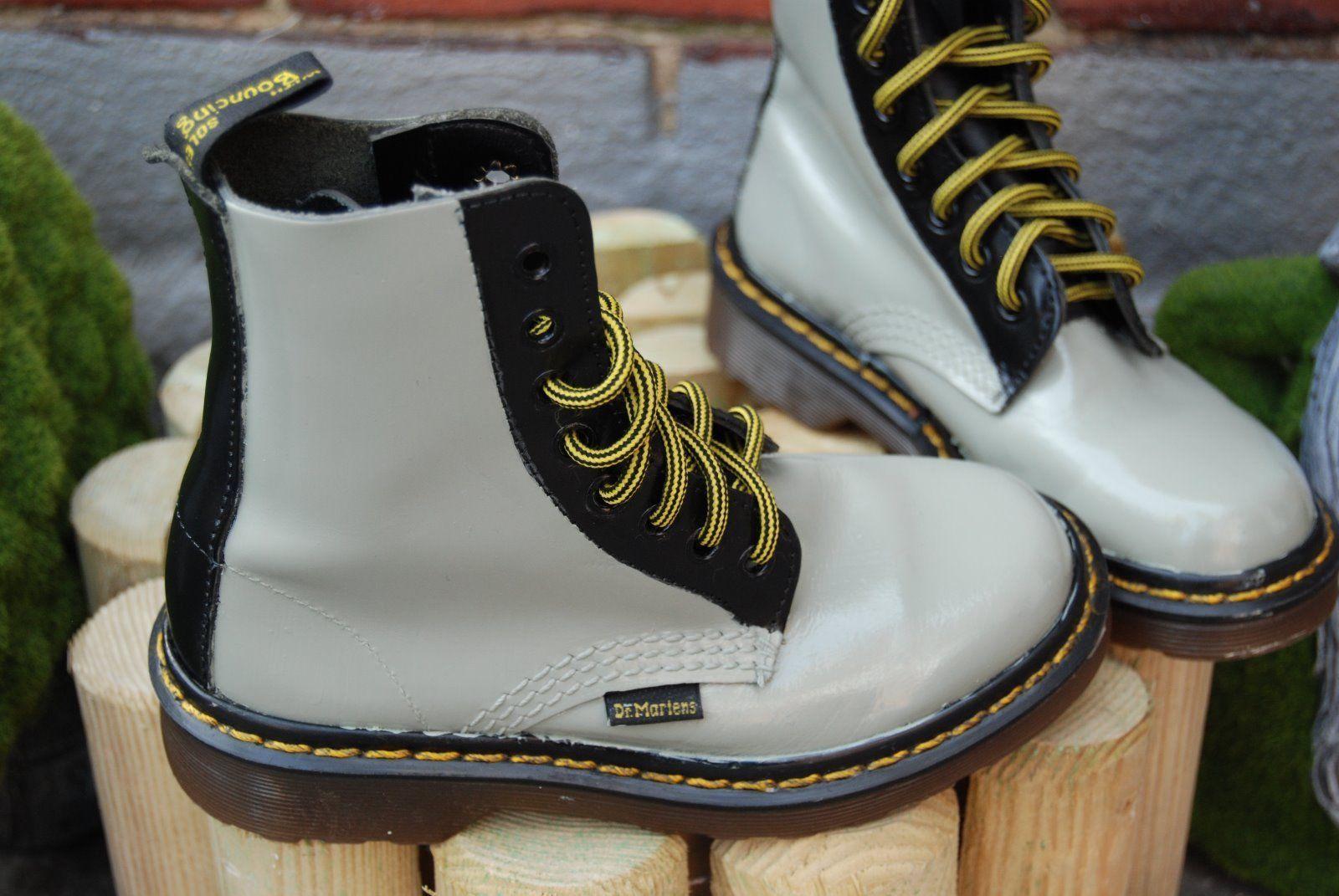 Dr Martens Boots, Custom, Sage greenBlack, Original. Child