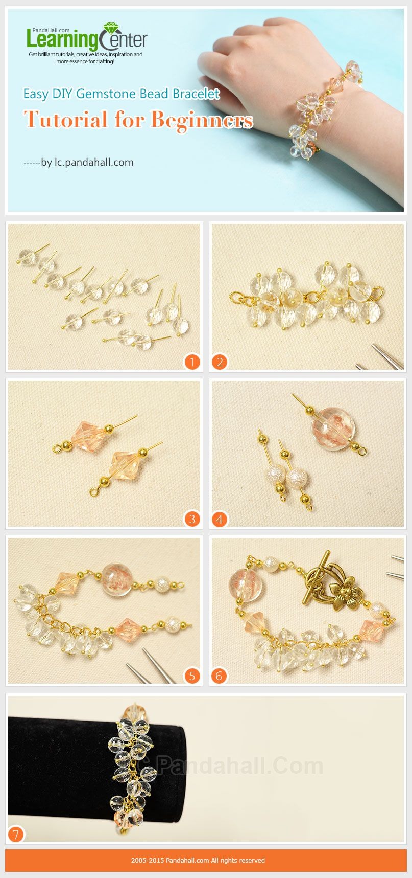 How to Make Easy Crystal Cluster Bracelet This project will share ...