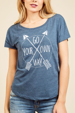 Go Your Own Way blue shirt