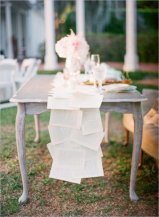 Romantic Vintage Themed Wedding Vintage Wedding Theme Book Themed Wedding Beautiful Wedding Decorations
