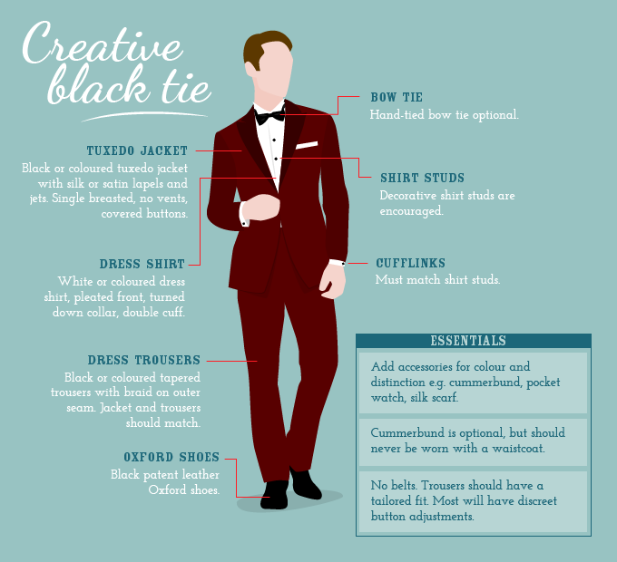 412ba6ce007 Creative black tie - what to wear to a wedding