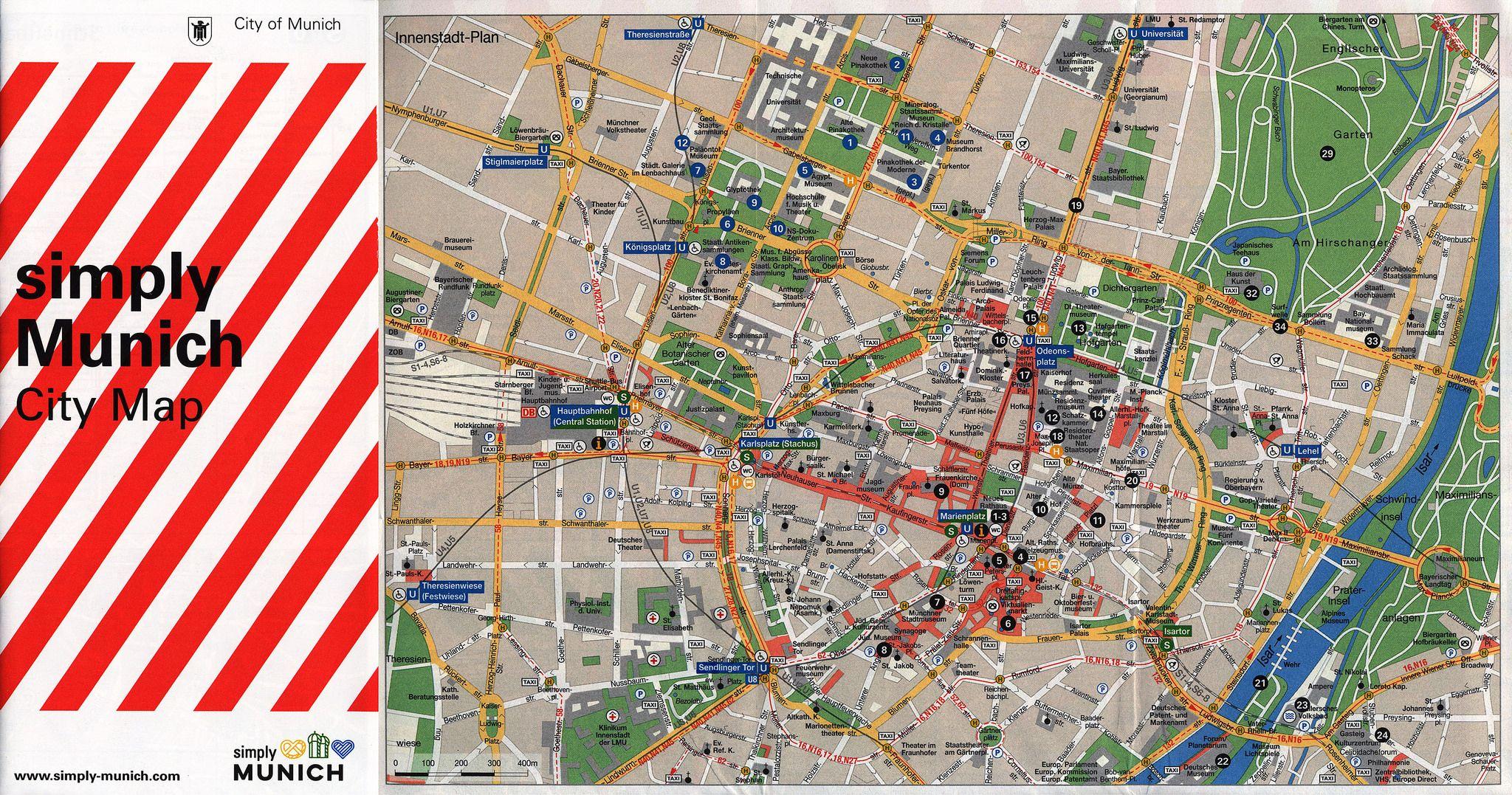 simply Munich City Map 20151 InnenstadtPlan City center map