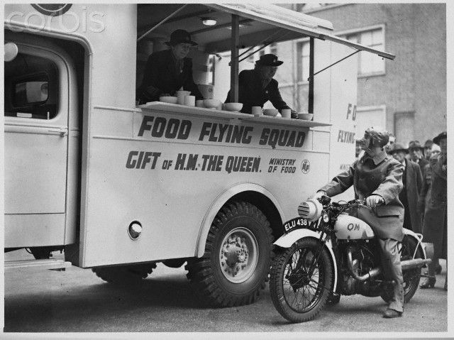 Mobile Canteen to Provide Food for Victims of the Blitz, 1941
