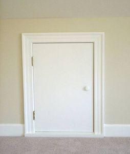 How To Build An Access Door Hunker Attic Access Door Attic Doors Door Under Stairs