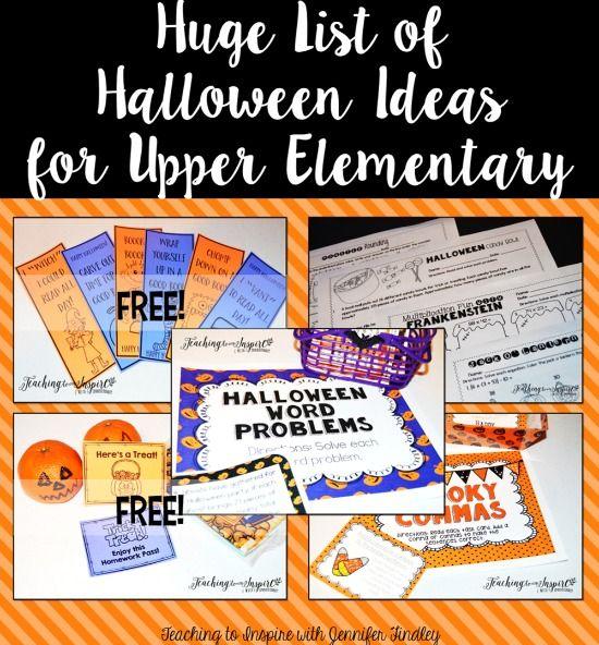 Halloween Activities and Ideas for Upper Elementary Pinterest - halloween activities ideas