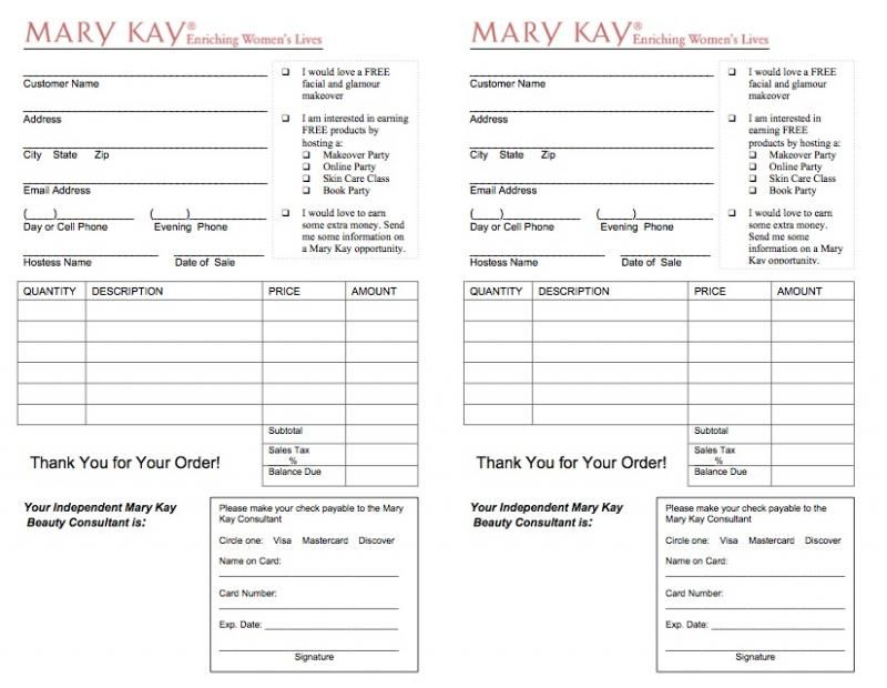 mary kay order form  Image result for mary kay order form | Mary kay cosmetics ...