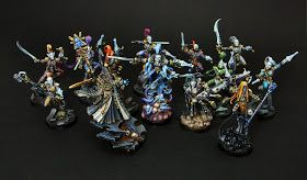 Common view of my last small Eldar-Harlequin army piece.  You can look at each actor of this small performance in my previous posts :   Pl...