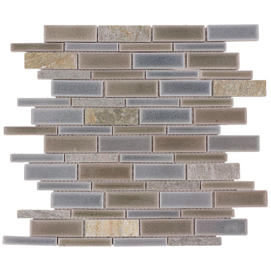 allen + roth River Bank Linear Mosaic Porcelain Slate Wall Tile ...
