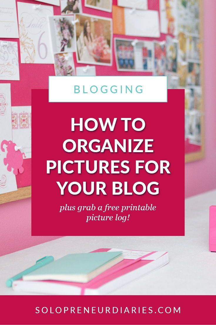 If you've been blogging for awhile, you've probably used a lot of pictures on your blog. Here are 6 easy tips for organizing your blog pictures so you can keep up with what you have and haven't used (plus a free printable picture log!) #bloggerlife #howtoblog