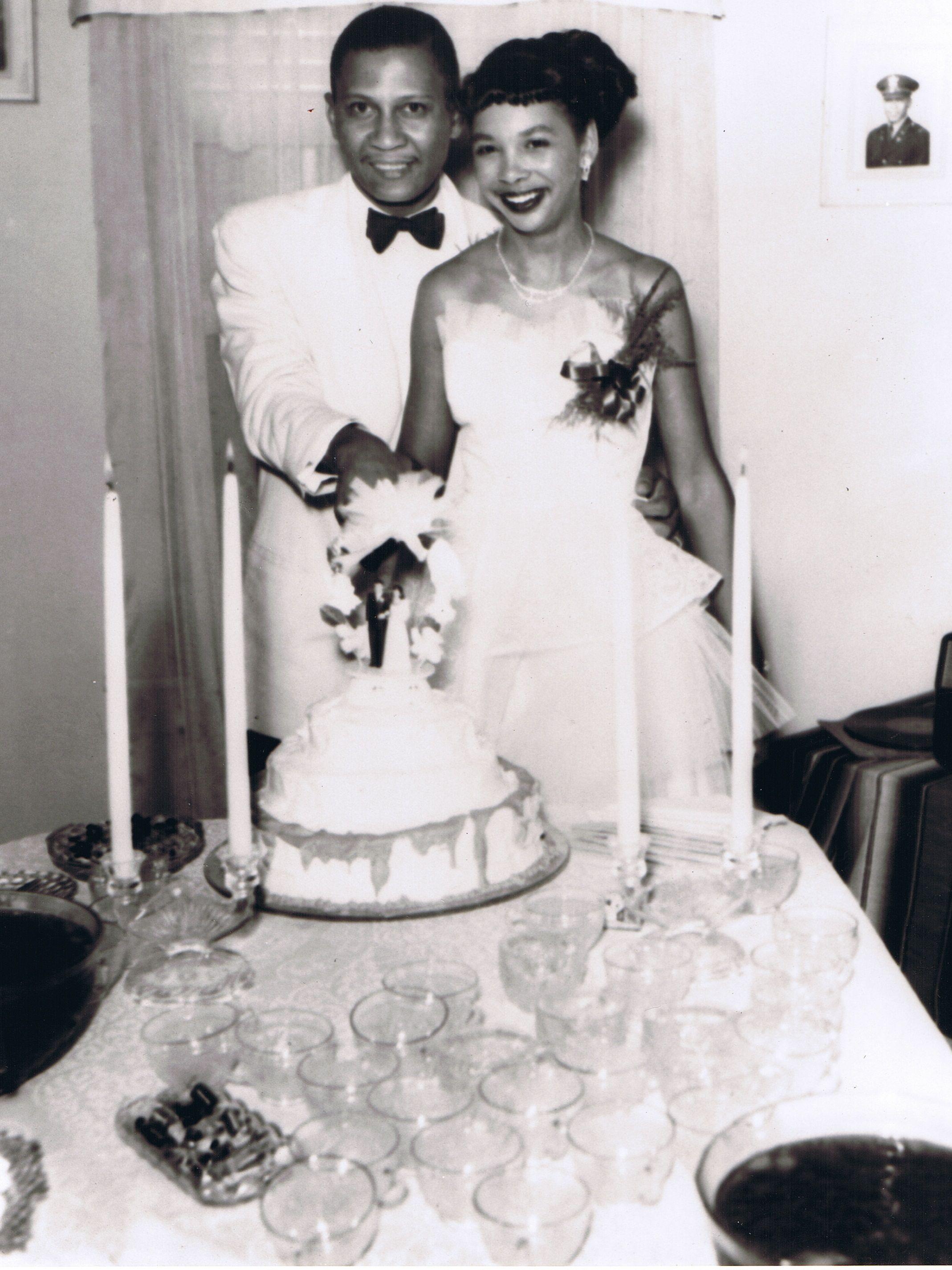 My parents\' wedding, circa 1954! | 1950s Fashion | Pinterest