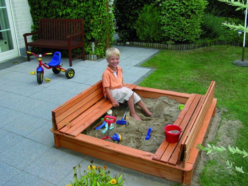 Sehr Sandkasten Holz PROMADINO «Donald» Deckel Abdeckung Sitzbank SM07