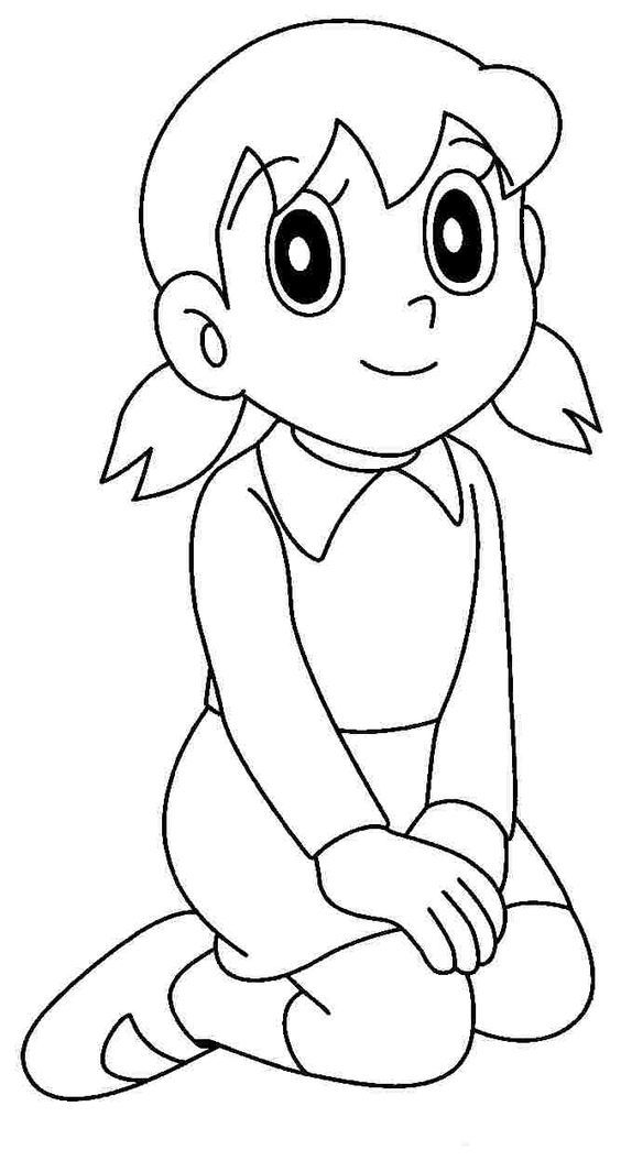 Doraemon Coloring Pages Characters Cartoon Drawings Easy Cartoon Drawings Cute Cartoon Drawings