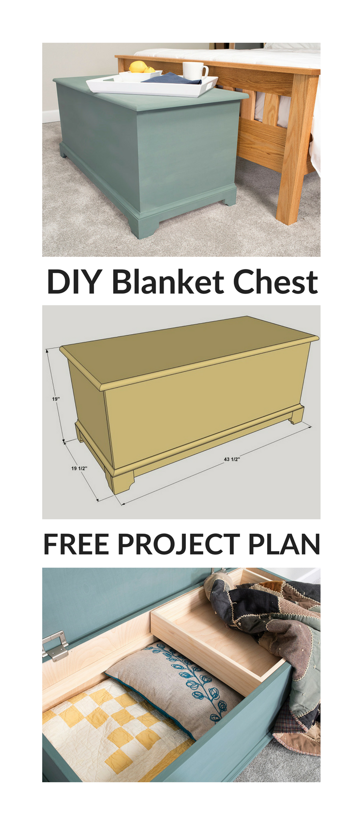 Farmhouse Style Toy Box / Blanket Chest - DIY Projects | Playroom ...