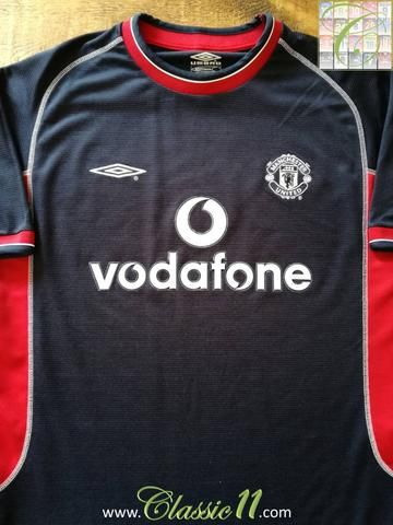 15259d8059b Official Umbro Manchester United 3rd kit football shirt from the 2000 2001  season.
