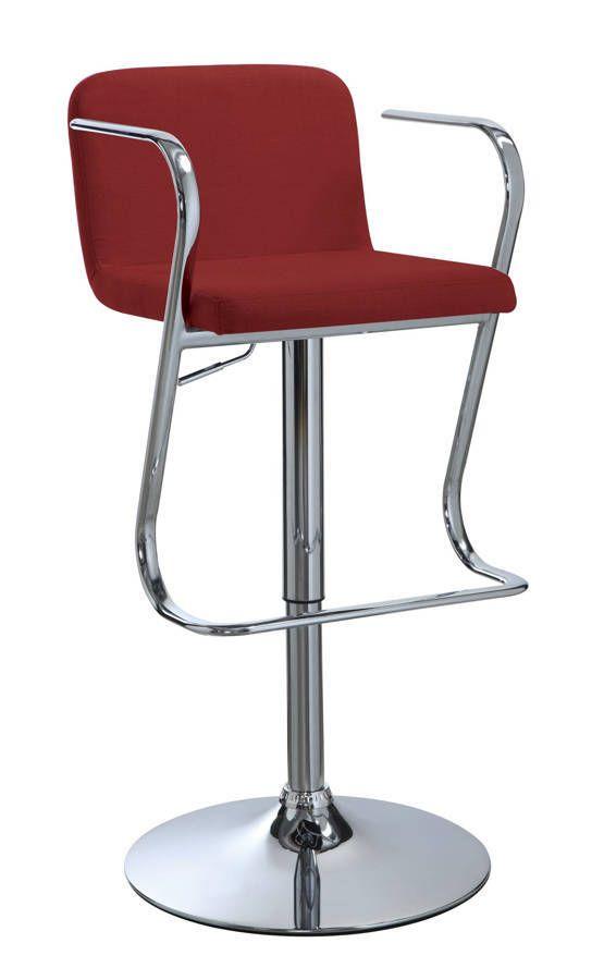 Cool Contemporary Red Fabric Adjustable Bar Stool Stars Uwap Interior Chair Design Uwaporg