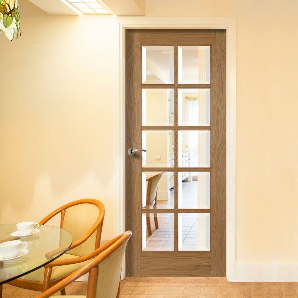 interior clear glass door. 10 Pane Oak Door With Bevelled Clear Glass P M Mendes Glazed Doors Inside Sizing 1024 X Paneled Interior - The Beauty Is Fact That