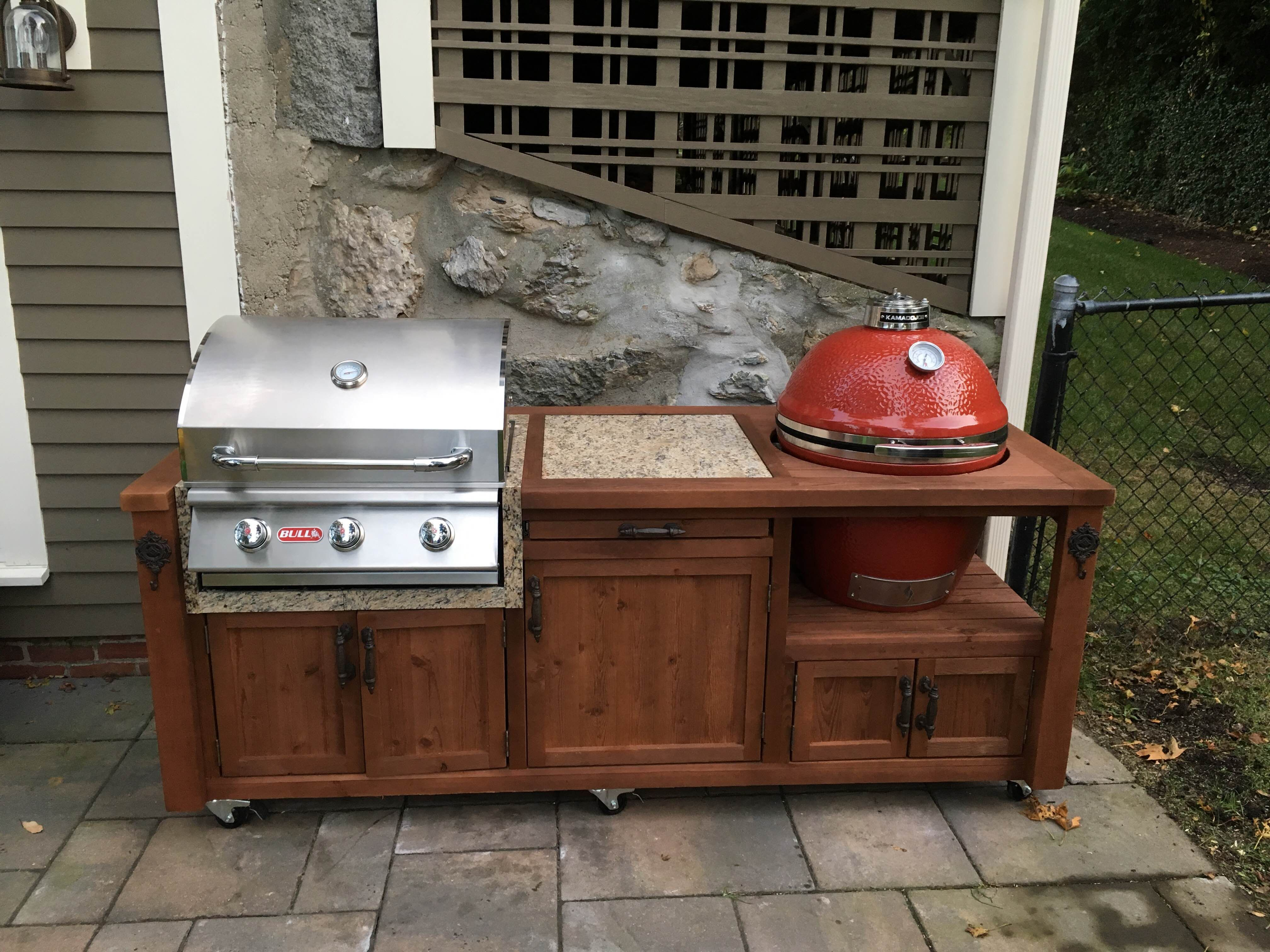 Dual Grill Cabinet With Do Joe Bull Gas Take Up To 350 Off Grills Your Order