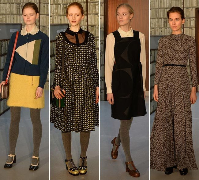 b00801bb29 Up to date Orla Kiely fall winter 2015-2016 Collection that was showcased  in the library on the second day of London Fashion Week fall 2015.
