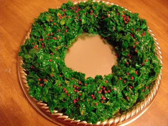 recipe: cornflake wreaths recipe [1]