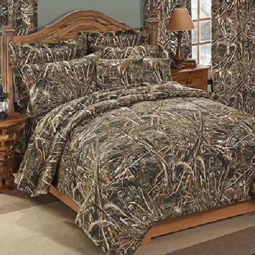 Camouflage Bettwäsche Realtree Max-5 Camo 7 Pc King Comforter Bedding Set