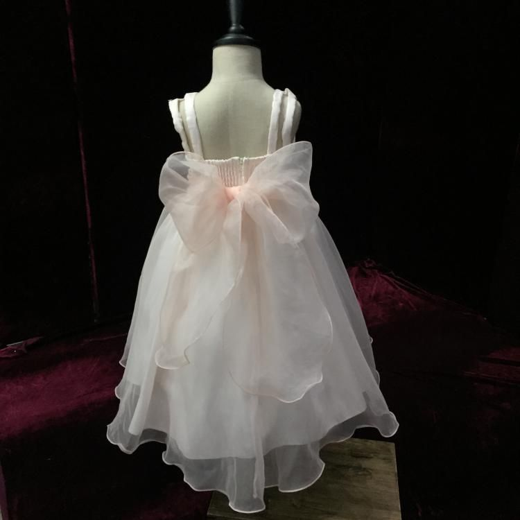 Fast Delivery Organza Child Dress Champagne Flower Girl Dress Party Prom Dress Children Pageant Gowns Plus Size Free Shipping