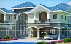 Photo of beautiful home design interior with house design with cement roof and grey house…