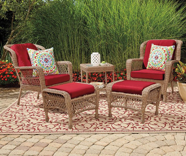 Wilson & Fisher Lakeview Resin Wicker 5-Piece Patio Chat ...