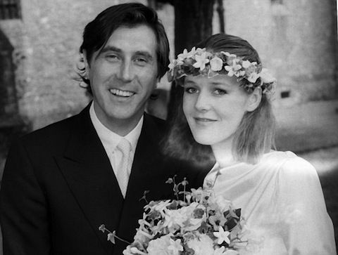Roxy Music's Bryan Ferry is currently married to Amanda Sheppard — his son's 29-year-old ex-girlfriend. In 1982, the singer wed model and London socialite Lucy Helmore (above). They had four sons together. Helmore appears on the cover of Avalon in a helmet, carrying a falcon. Awkward all around.