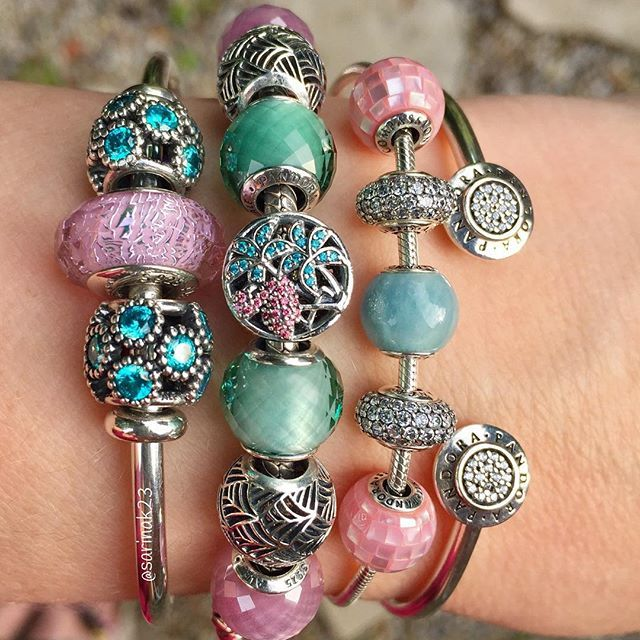 Jewelry Box For Pandora Charms: Tropical Pastel Stack
