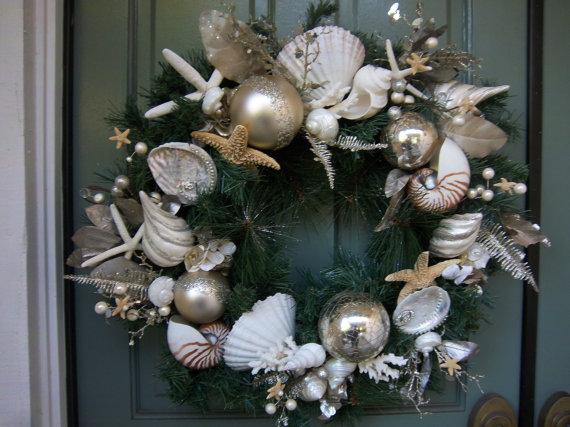 As Seen in Nov.2012 Romantic Homes Mag. Sea Shell Christmas Wreath ...