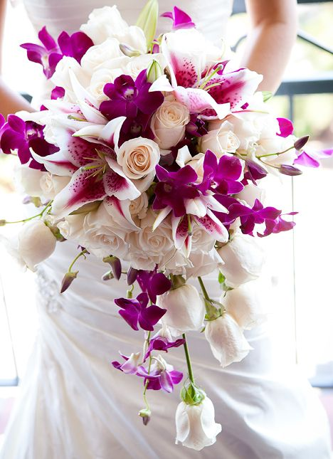 Beautiful Wedding Flowers Magenta Wedding Wedding Bouquets