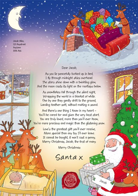 A Lovely SantaS Poem Letter Frosanta  Christmas Time