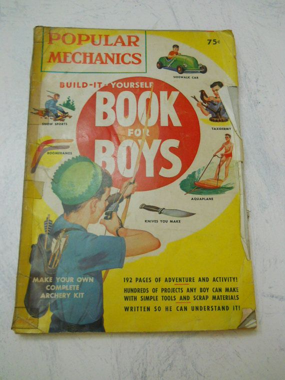 1950s Popular Mechanics Build It Yourself Book For Boys From My