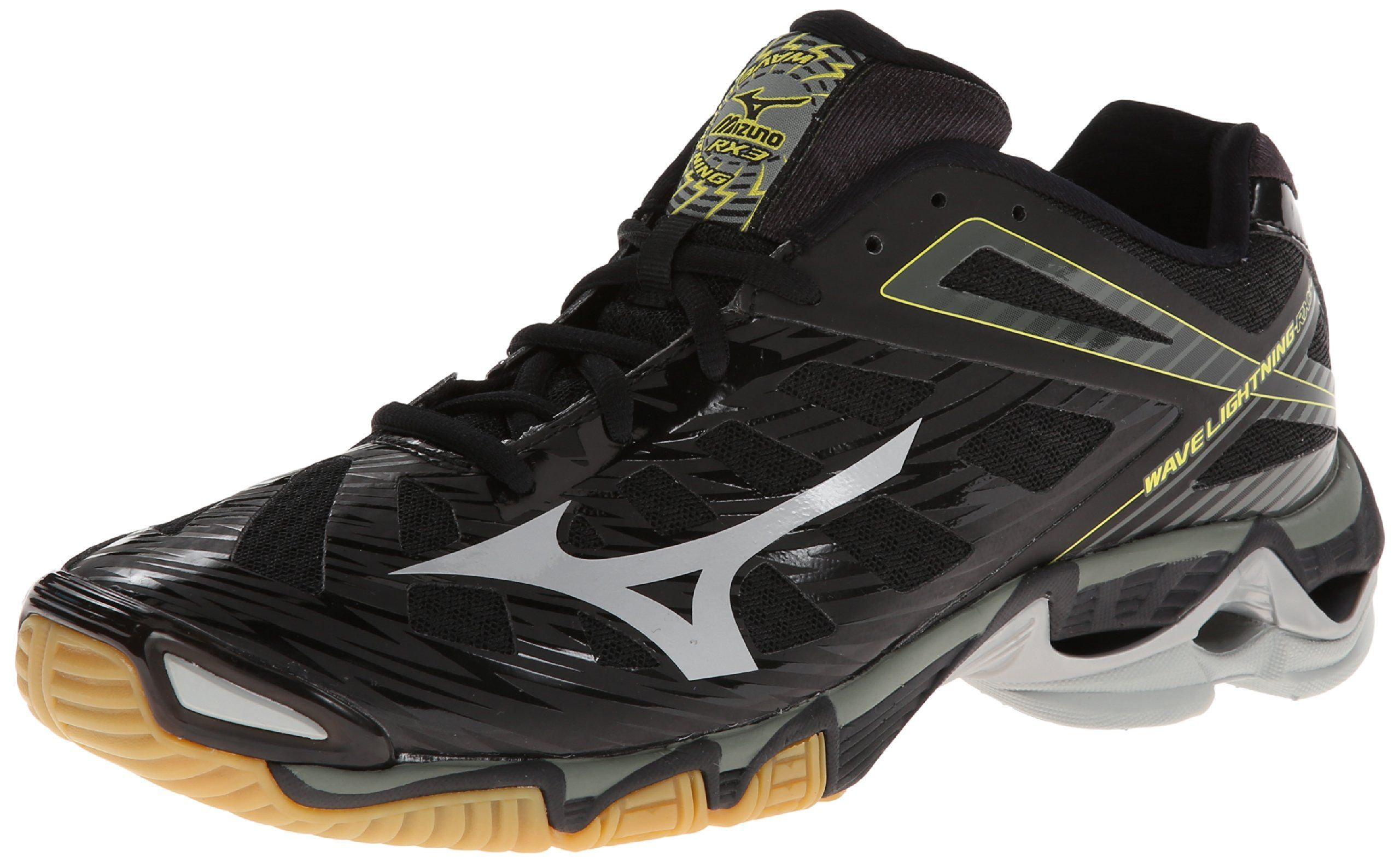 Mizuno Men S Wave Lightning Rx3 Volleyball Shoe Black Silver 7 M Us Volleyball Shoes Mens Volleyball Shoes