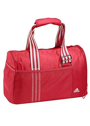 Adidas Performance Sports Bag - Sports bag from Adidas Performance made out of durable polyester twill with removable inner pocket for valuables, side pocket with shoe compartment, and a meshed outer pocket. £35.