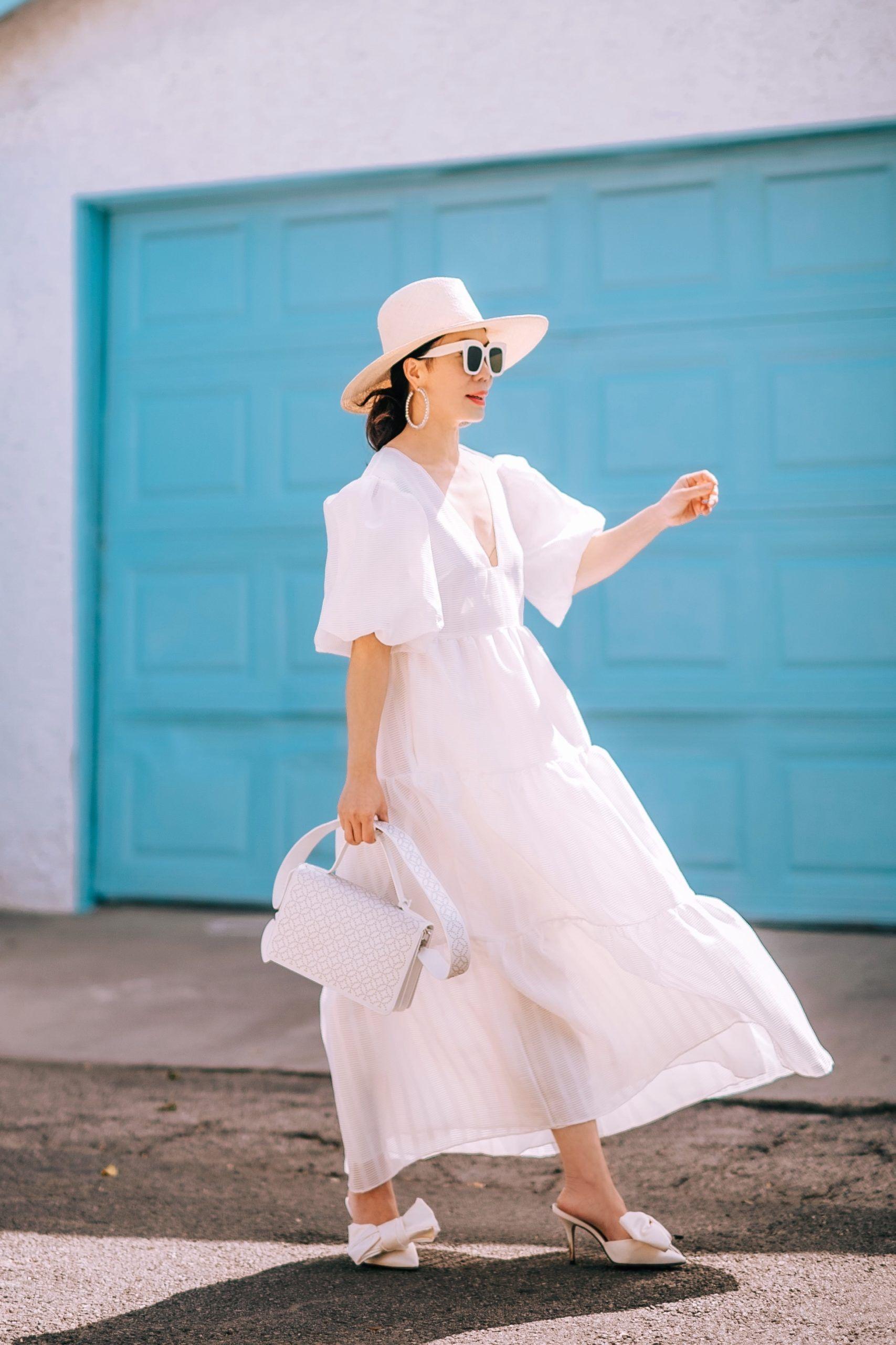 Spring Little White Dress Hallie Daily In 2020 Little White Dresses Dresses Classic Dress